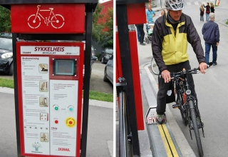 آسانسور خیابانی مخصوص دوچرخه ها -