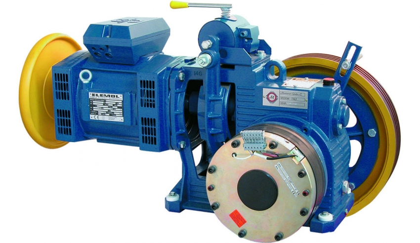 موتورهای الکتریکی - موتورخانه آسانسور, موتور آسانسور, الکتروموتور